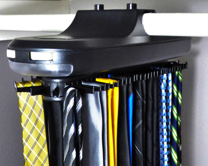 Tie Belt Necktie Revolving Rotates Hanger Organizer Closet