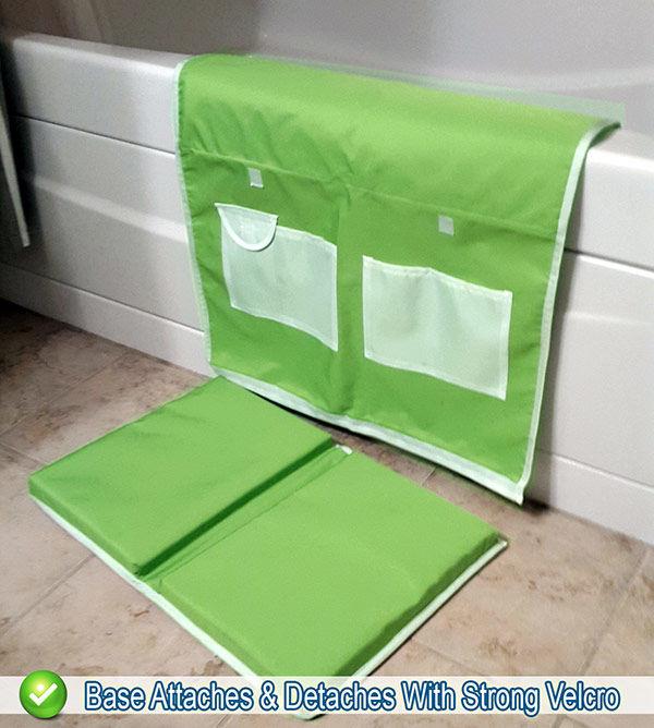 baby bath kneeling safety pad storage bathtub kneeler elbow cushion mat ebay. Black Bedroom Furniture Sets. Home Design Ideas