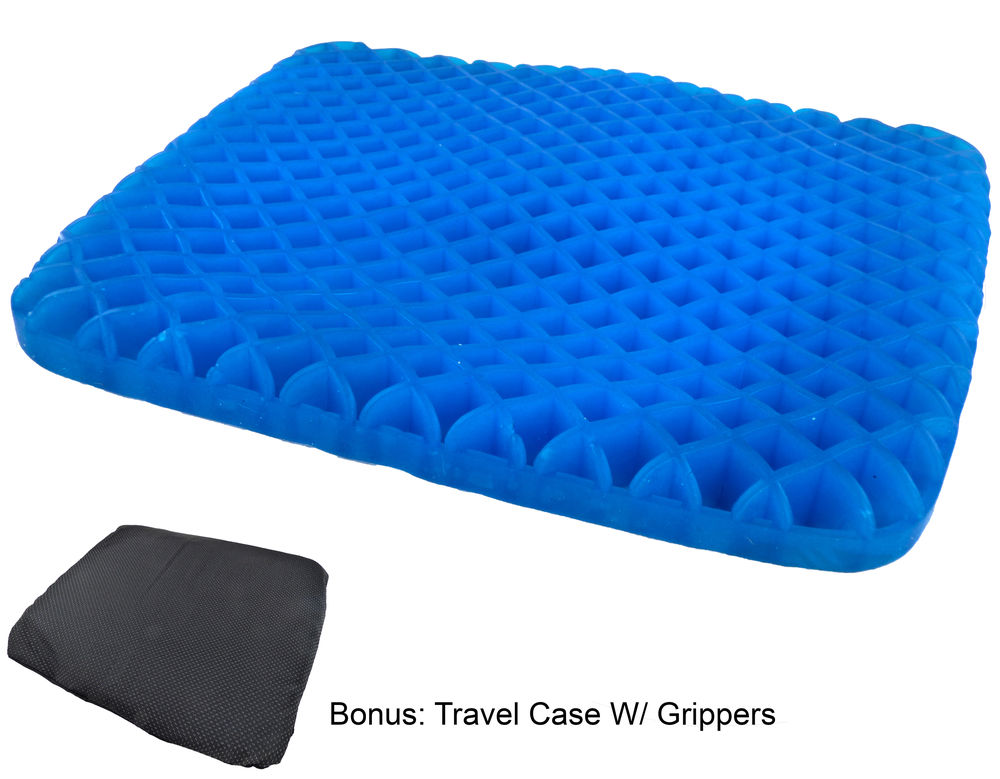 honeycomb gel seat cushion cooling flexible support w non. Black Bedroom Furniture Sets. Home Design Ideas