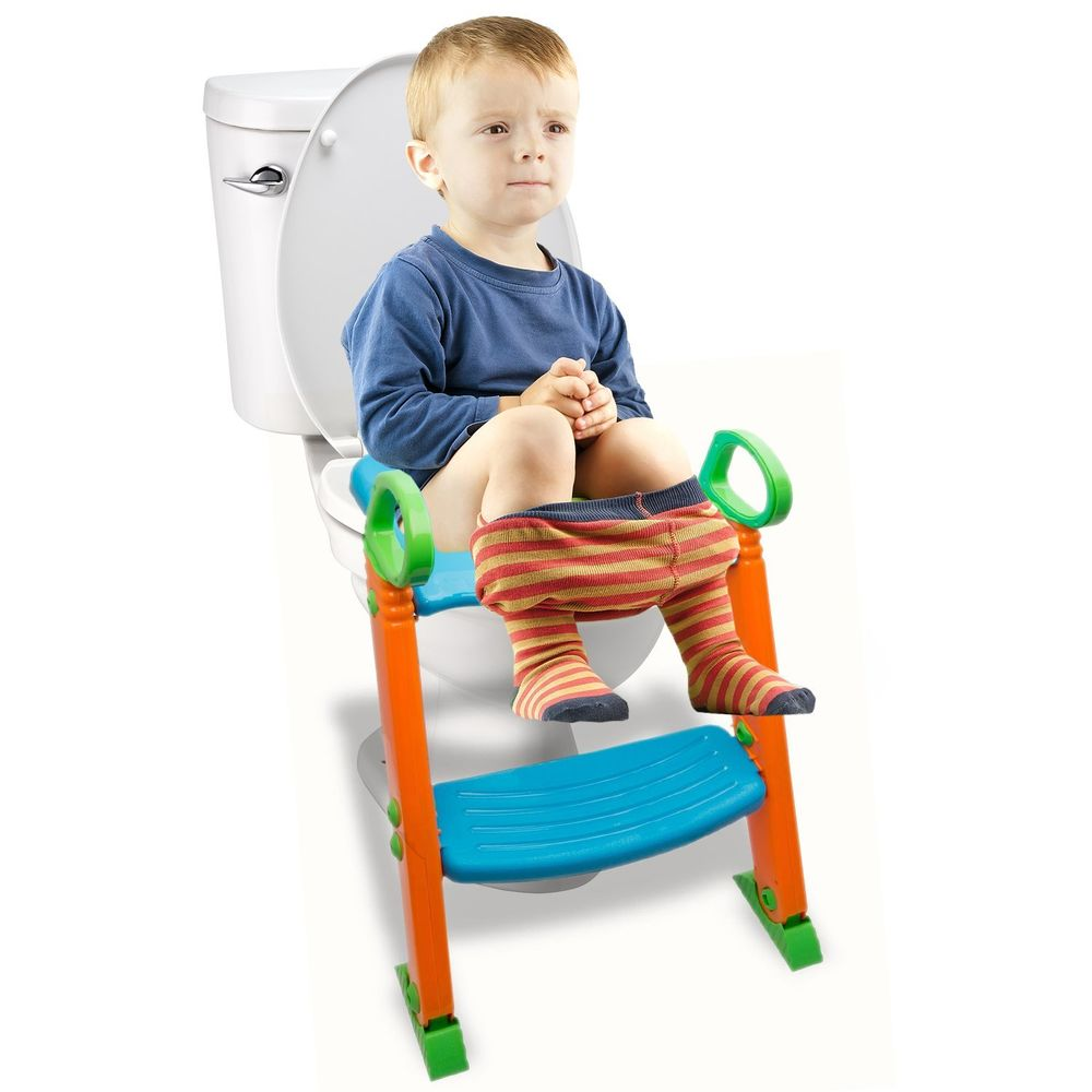 Cool Details About Potty Trainer Toilet Chair Seat Kids Toddler Non Slip Step Stool Ladder W Handle Short Links Chair Design For Home Short Linksinfo