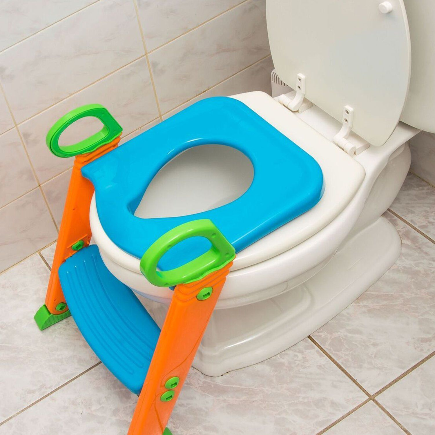 Potty Trainer Toilet Chair Seat With Sturdy Non Slip Step