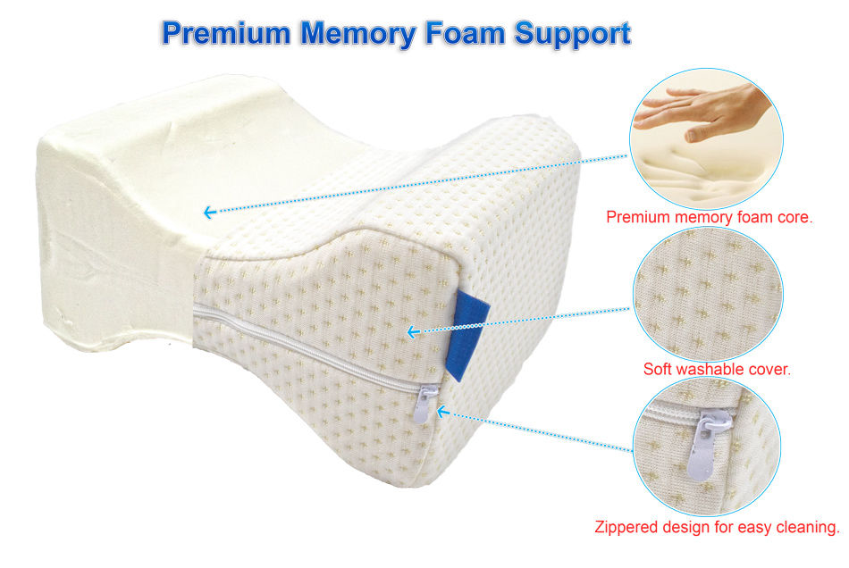 Orthopedic Knee Memory Foam Pillow Ergonomic Wedge