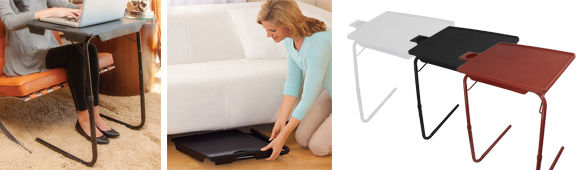 Portable Foldable Tv Tray Table Laptop Eating Drawing