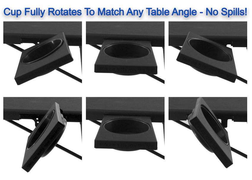 Portable Tv Tray Table Wcup Holder Adjustable Folding